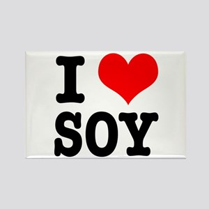 I Heart (Love) Soy Rectangle Magnet