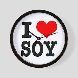 I Heart (Love) Soy Wall Clock