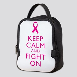 Keep Calm And Fight On Breast Cancer Support Neopr