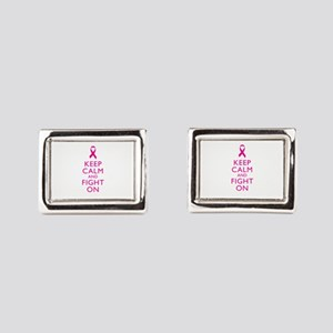 Keep Calm And Fight On Breast Cancer Support Cuffl