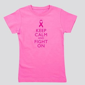 Keep Calm And Fight On Breast Cancer Support Girl'
