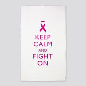 Keep Calm And Fight On Breast Cancer Support 3'x5'