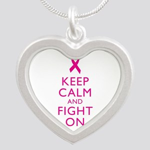 Keep Calm And Fight On Breast Cancer Support Silve
