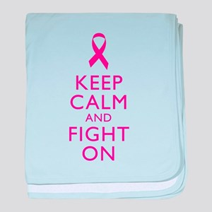 Keep Calm And Fight On Breast Cancer Support baby