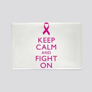 Keep Calm And Fight On Breast Cancer Support Recta
