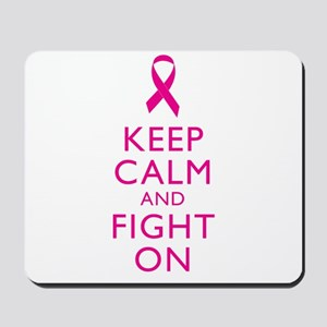 Keep Calm And Fight On Breast Cancer Support Mouse