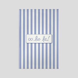 Oo La La on French Blue Stripes Magnets