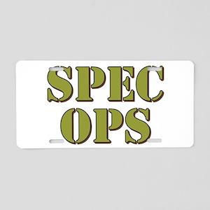 SPEC OPS Aluminum License Plate