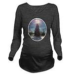 xmaspeaceovalsf Long Sleeve Maternity T-Shirt