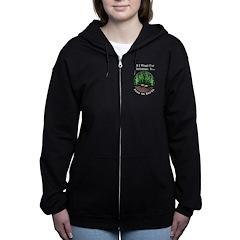 Xmas Peas on Earth Women's Zip Hoodie