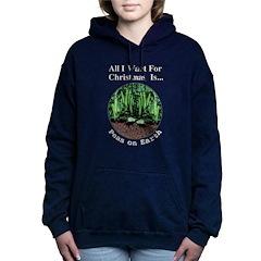 Xmas Peas on Earth Women's Hooded Sweatshirt