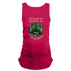 Xmas Peas on Earth Maternity Tank Top