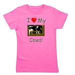 Love My Cows Girl's Tee
