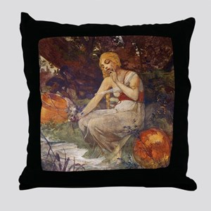 Prophetess by Mucha Throw Pillow