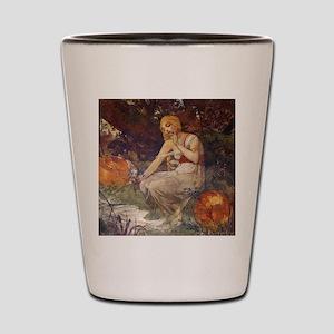 Prophetess by Mucha Shot Glass