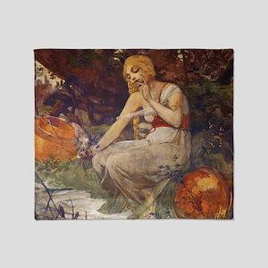Prophetess by Mucha Throw Blanket