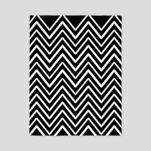 Black and White Chevron Stripes 11 Twin Duvet