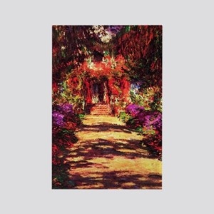 Garden Path by Claude Monet Rectangle Magnet
