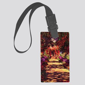Garden Path by Claude Monet Large Luggage Tag