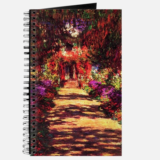 Garden Path by Claude Monet Journal