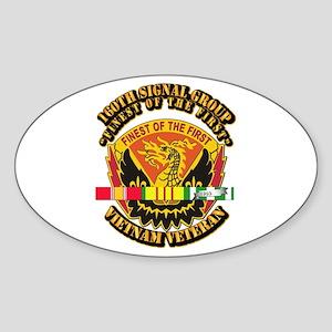 Army - 160th Signal Group w SVC Ribbon Sticker (Ov