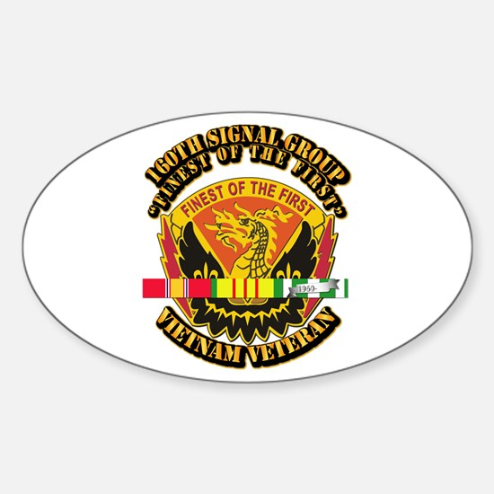 Army - 160th Signal Group w SVC Ribbon Decal