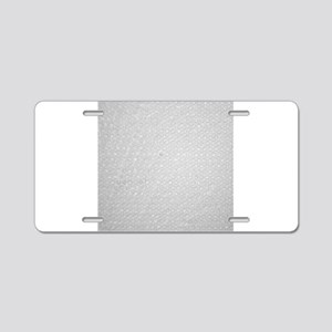 Bubble Wrap Small Aluminum License Plate