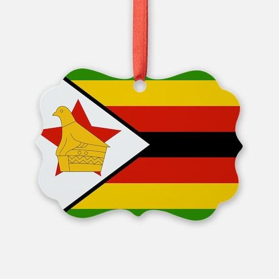 Zimbabwe Flag Ornament