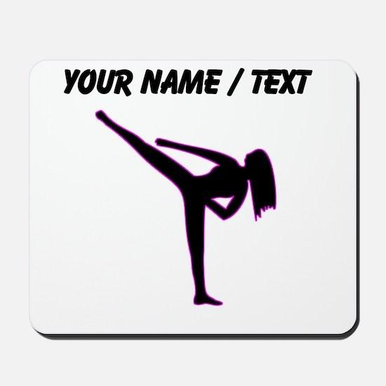 Custom Pink Karate Silhouette Mousepad