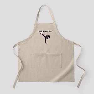 Custom Pink Karate Silhouette Apron