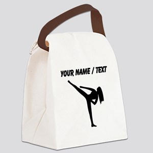 Custom Karate Silhouette Canvas Lunch Bag