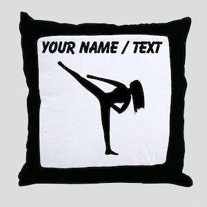 Custom Karate Silhouette Throw Pillow