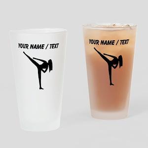 Custom Karate Silhouette Drinking Glass