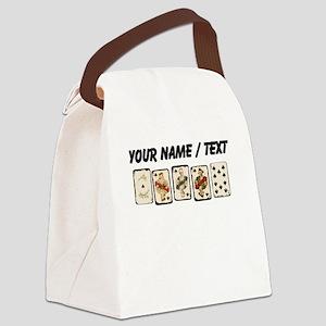 Custom Royal Flush Canvas Lunch Bag