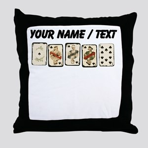 Custom Royal Flush Throw Pillow