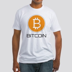 Bitcoin Logo Fitted T-Shirt