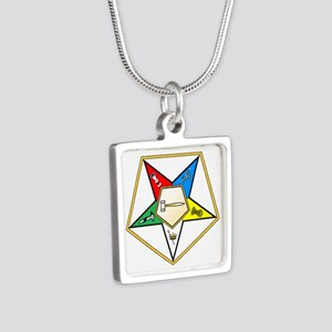 Worthy Grand Matron Silver Square Necklace