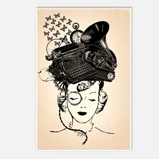 Steampunk Girl Postcards (Package of 8)