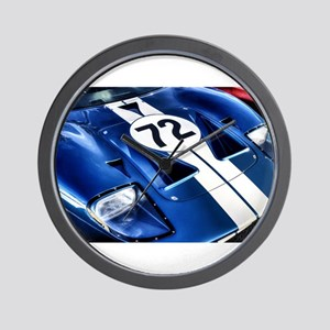 Blue Number 72 Wall Clock