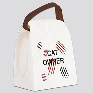 Cat Owner Claws 2 Canvas Lunch Bag