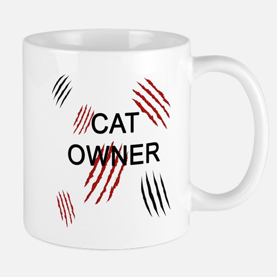 Cat Owner Claws 2 Mugs
