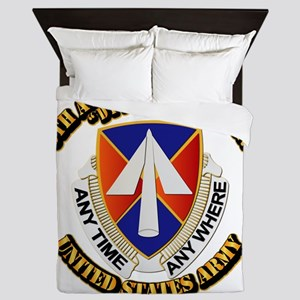 DUI - 9th Aviation Battalion with Text Queen Duvet