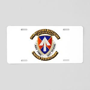 DUI - 9th Aviation Battalion with Text Aluminum Li