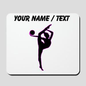Custom Rhythmic Gymnastics Silhouette Mousepad