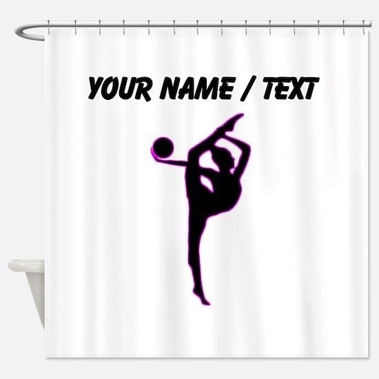 Custom Rhythmic Gymnastics Silhouette Shower Curta