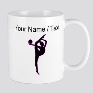 Custom Rhythmic Gymnastics Silhouette Mugs