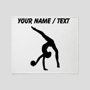 Custom Rhythmic Gymnastics Silhouette Throw Blanke