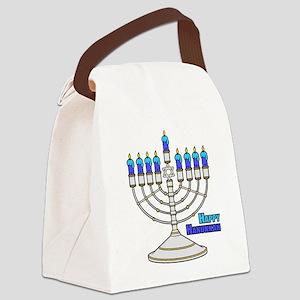 Happy Hanukkah Canvas Lunch Bag