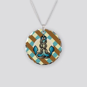 ANCHORS AWEIGH Necklace Circle Charm