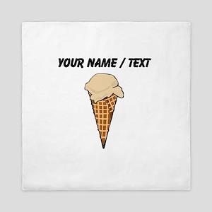 Custom One Scoop Ice Cream Cone Queen Duvet